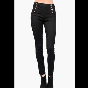 American bazi black sailor jeans